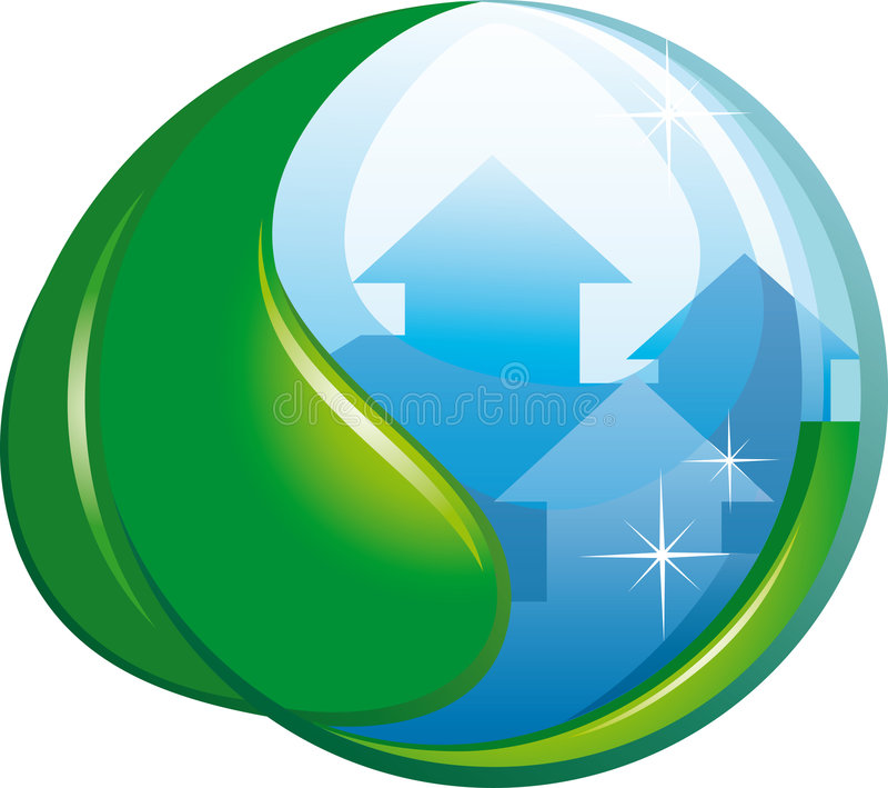 ekologiskt symbol stock illustrationer