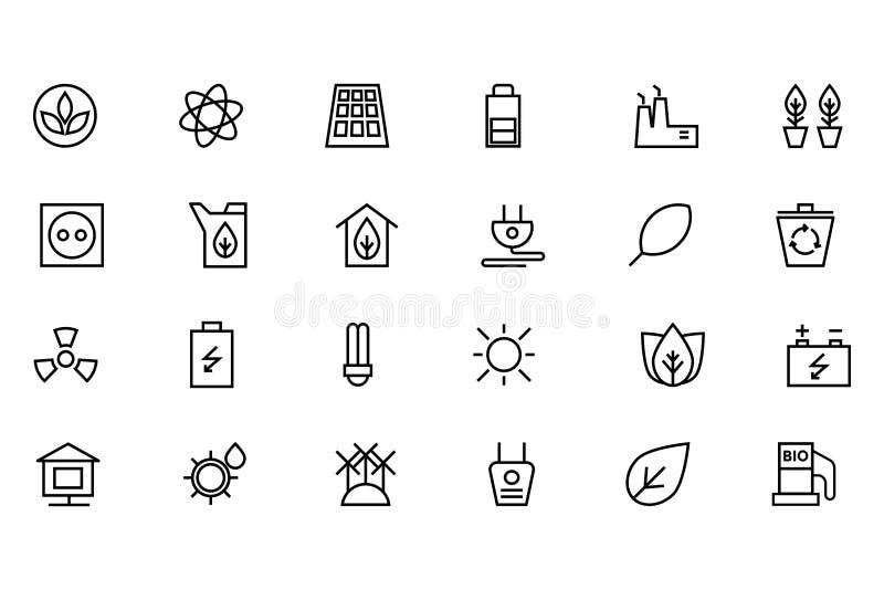 Ekologisymbol 1 royaltyfri illustrationer