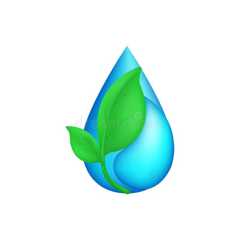 ekologisymbol, vektorillustration royaltyfri illustrationer