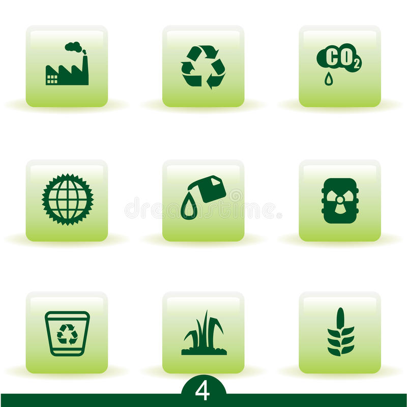 ekologisymbolsserie stock illustrationer