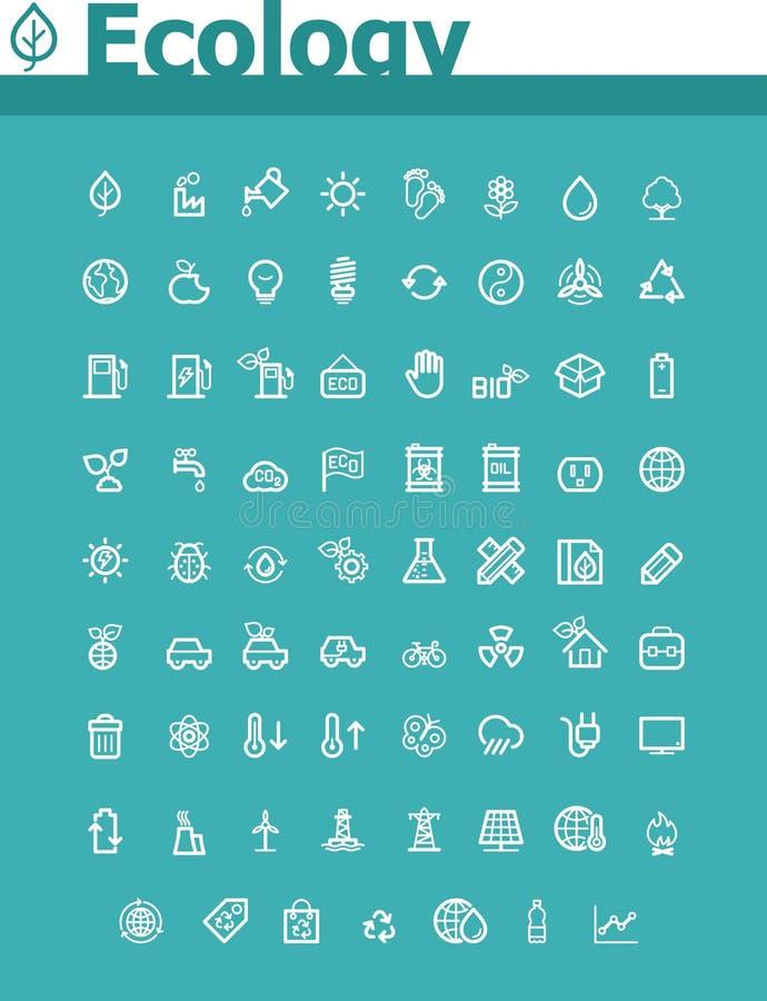 Ekologisymbolsuppsättning royaltyfri illustrationer