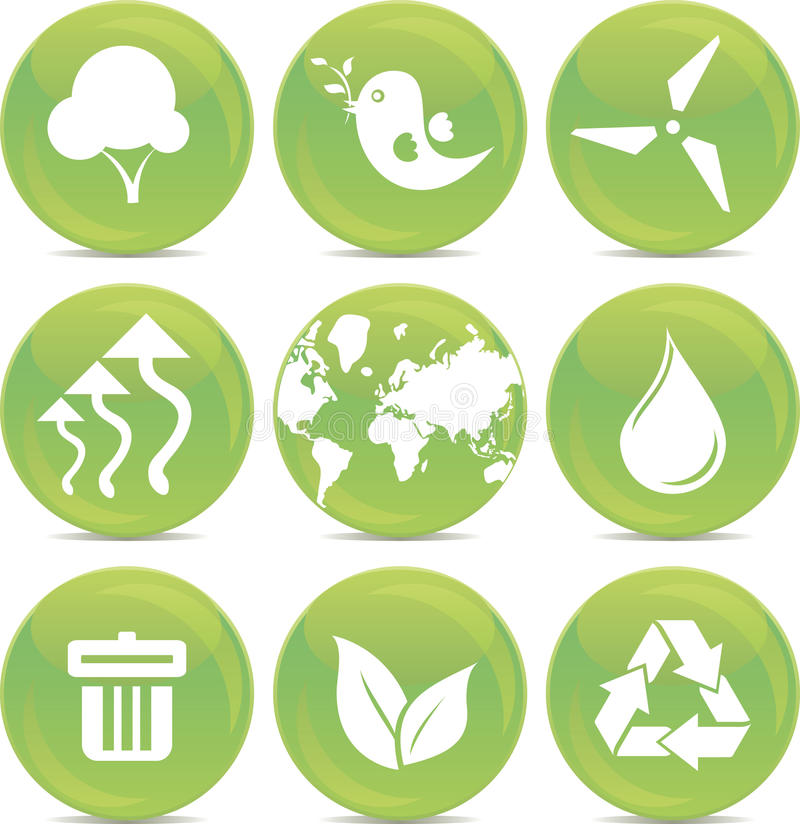 ekologisymbolsvektor royaltyfri illustrationer