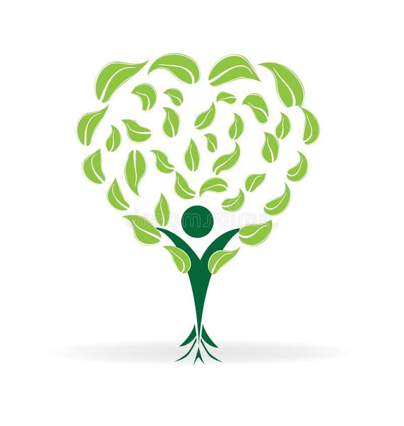 Ekologiträd royaltyfri illustrationer