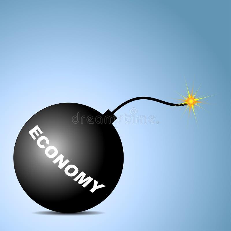 Ekonomi bombarderar stock illustrationer