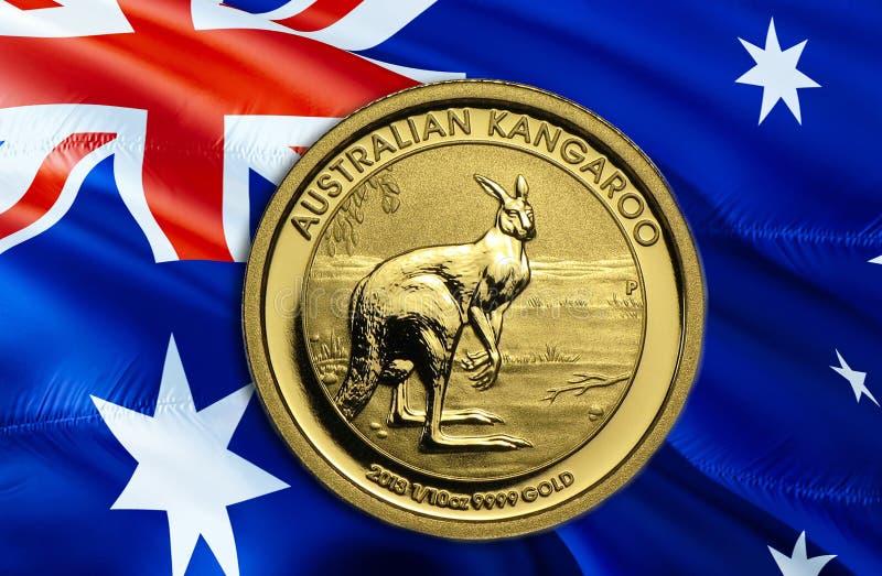 Ekonomi för australisk dollar för affären och den finansiella begreppsidéillustrationen, bakgrund Begrepp med den australiska dol royaltyfri fotografi