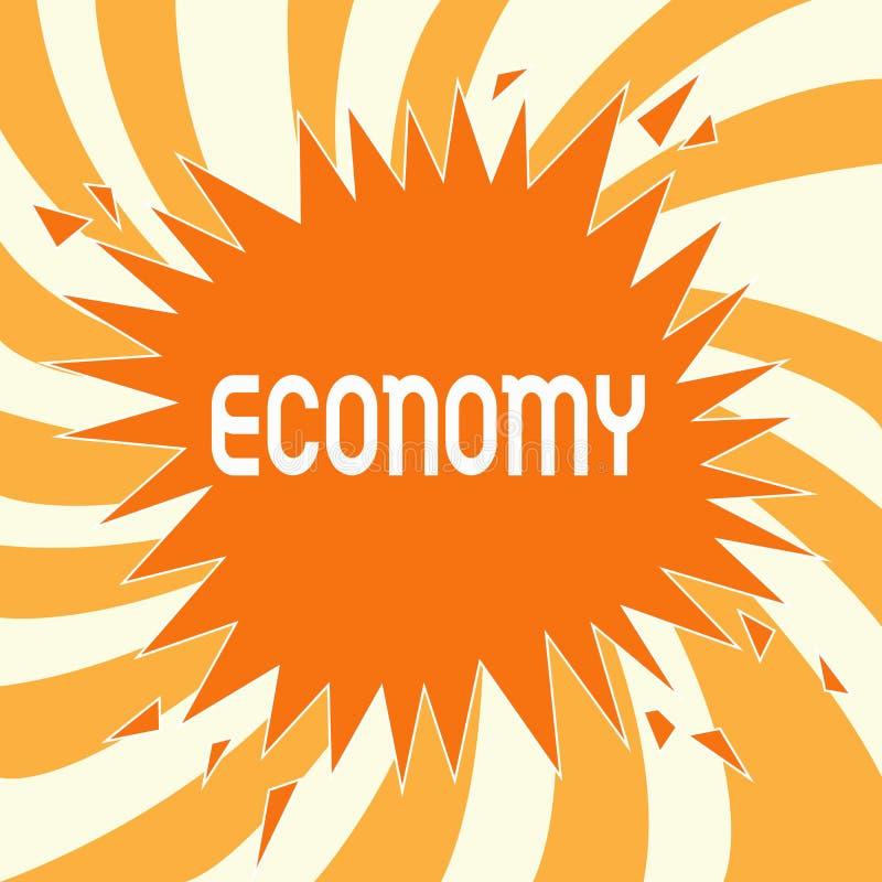 Ekonomi för textteckenvisning Begreppsmässig fotoledning av analys för information om redovisning för finansiella resurser stock illustrationer