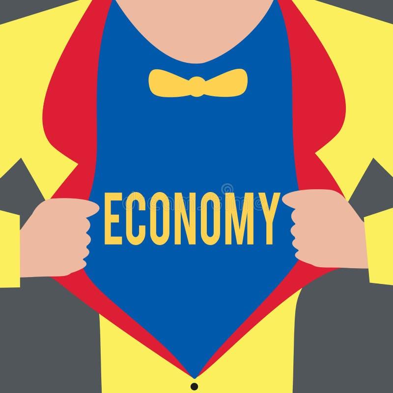 Ekonomi för textteckenvisning Begreppsmässig fotoledning av analys för information om redovisning för finansiella resurser vektor illustrationer