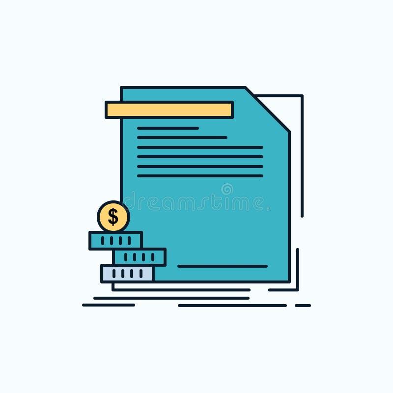 ekonomi finans, pengar, information, plan symbol för rapporter gr?nt och gult tecken och symboler f?r website och mobil appliatio stock illustrationer