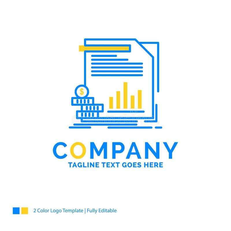 ekonomi finans, pengar, information, rapporter blåa gula Busine vektor illustrationer