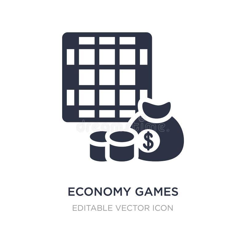 ekonomi spelar symbolen på vit bakgrund Enkel beståndsdelillustration från affärsidé royaltyfri illustrationer