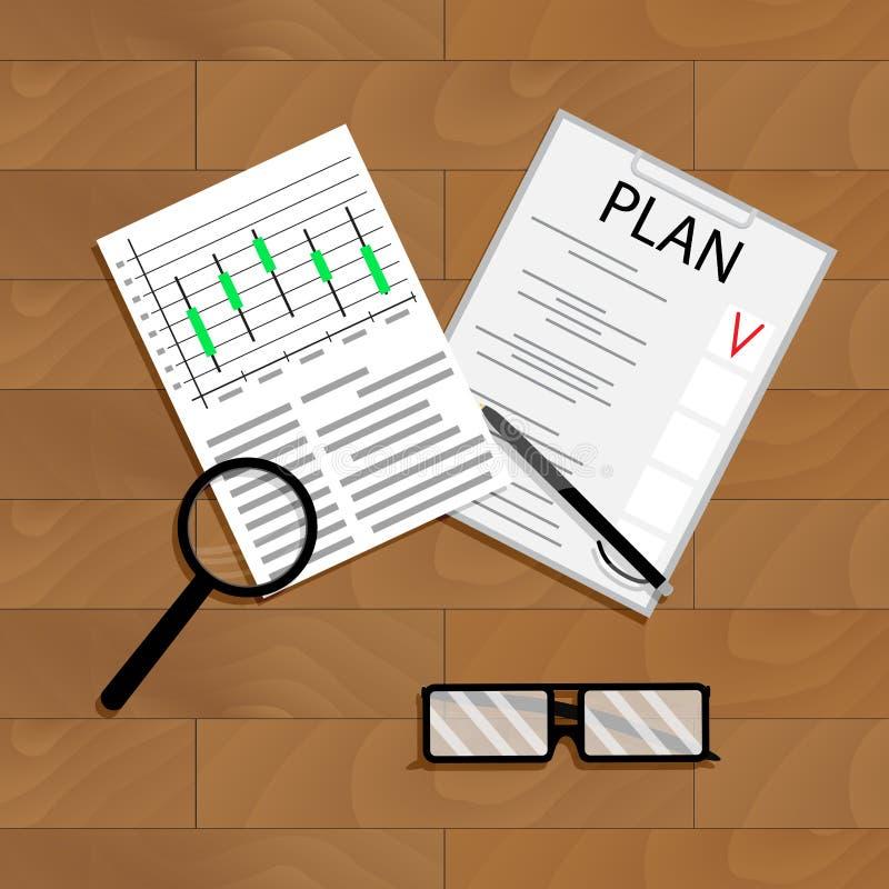 Ekonomicznego planowania wektor royalty ilustracja
