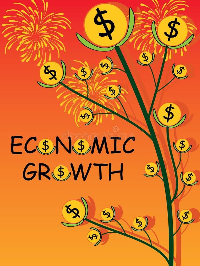 Ekonomicznego przyrosta pokrywa royalty ilustracja