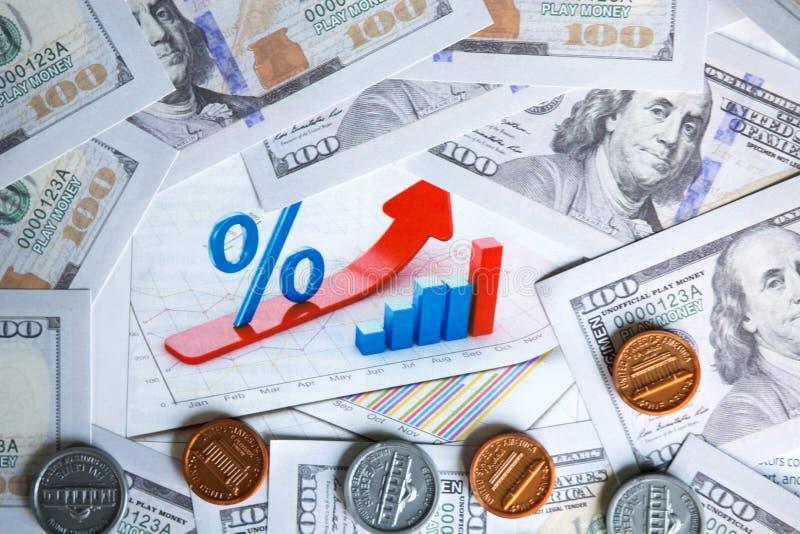 Ekonomicznej analizy wykres obraz royalty free