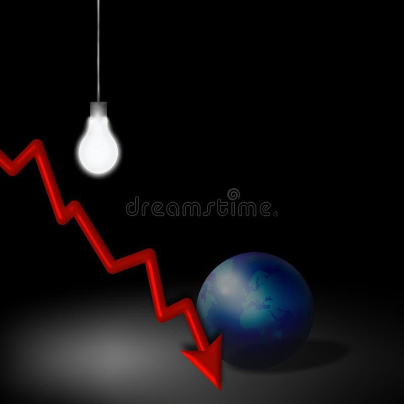 ekonomiczny degrengolada pomysł ilustracji