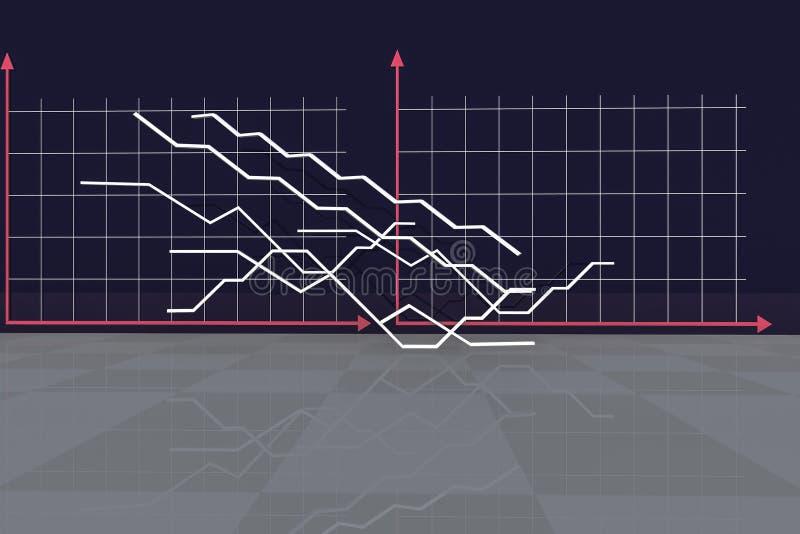 Ekonomiczny tło Ilustracja dla ekonomii i biznesu zdjęcie royalty free