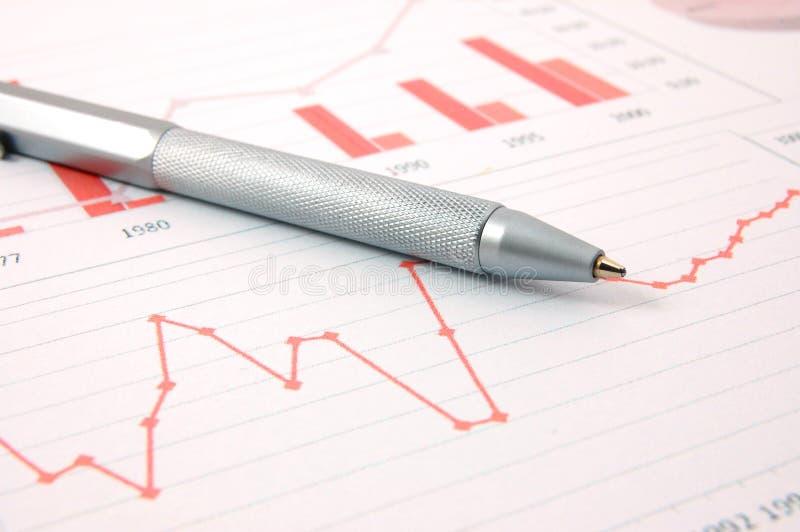 ekonomiczny wykres zdjęcia stock