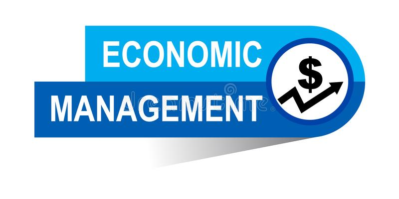 Ekonomiczny zarządzanie sztandar royalty ilustracja