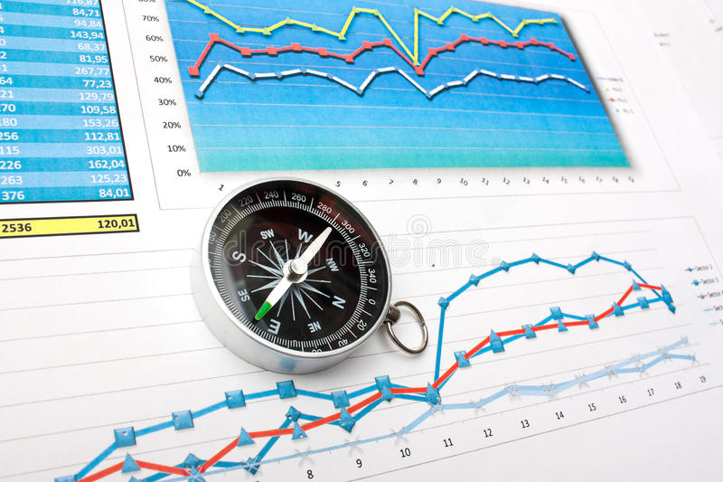ekonomie finansują nawigację fotografia stock