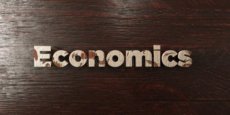 Ekonomie - grungy drewniany nagłówek na klonie - 3D odpłacający się królewskość bezpłatny akcyjny wizerunek ilustracja wektor