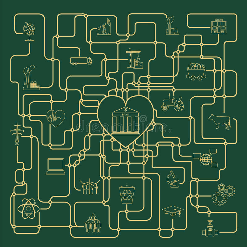 Ekonomie i finanse infographic Inwestorscy projekty banki ilustracji