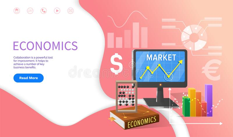Ekonomii szkoły dyscyplina, uniwersytetów studia royalty ilustracja