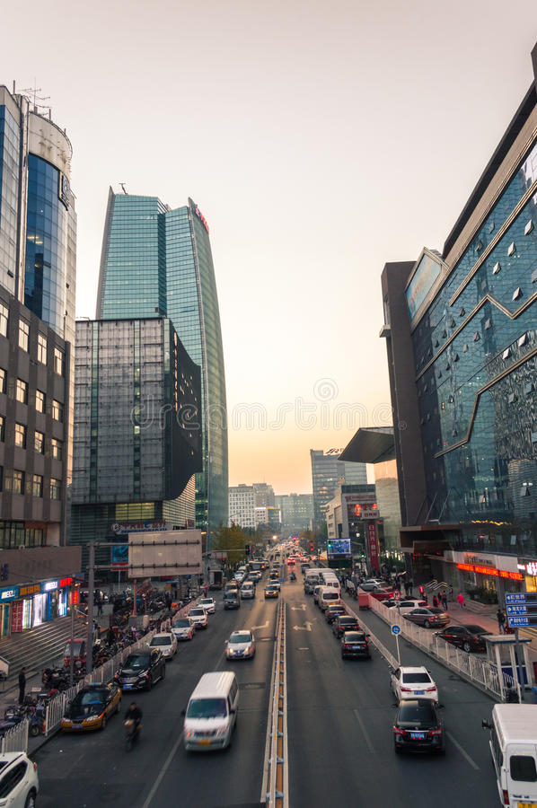 Ekonomimitt Zhongguancun i beijing arkivfoton