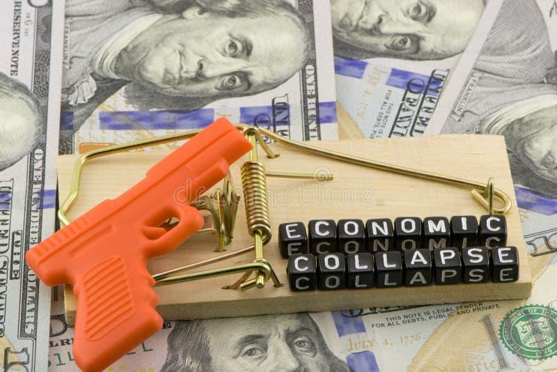 Ekonomin i kollaps arkivbild