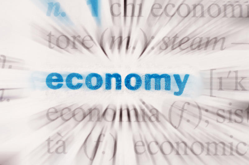 Ekonomiord royaltyfri bild