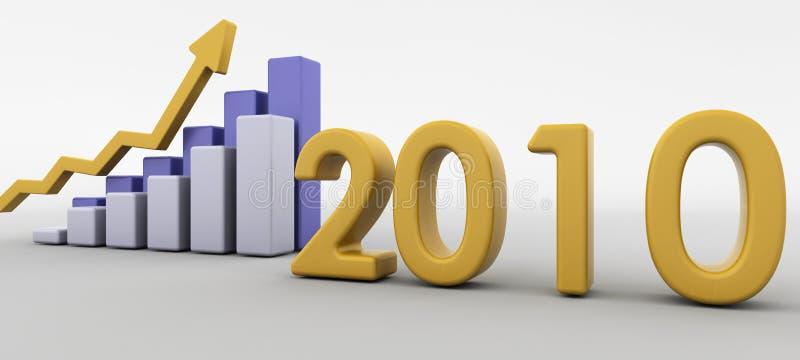 ekonomisk återhämtning 2010 vektor illustrationer