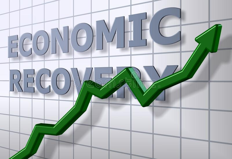 ekonomisk återhämtning royaltyfri illustrationer