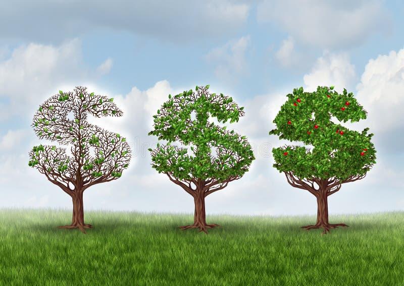 Ekonomisk återhämtning stock illustrationer
