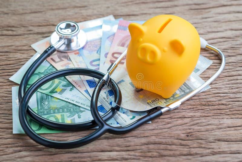 Ekonomisk europeisk union för E. - eller begrepp för vård- kontroll för finans, savi arkivbild