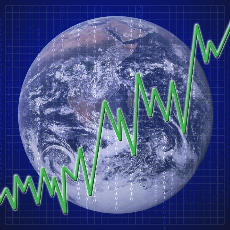 ekonomisk global återställning vektor illustrationer