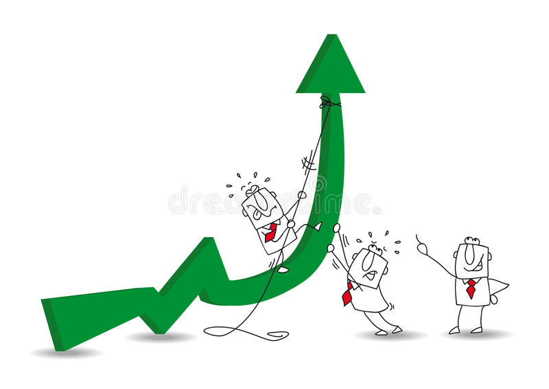 Ekonomisk utveckling vektor illustrationer