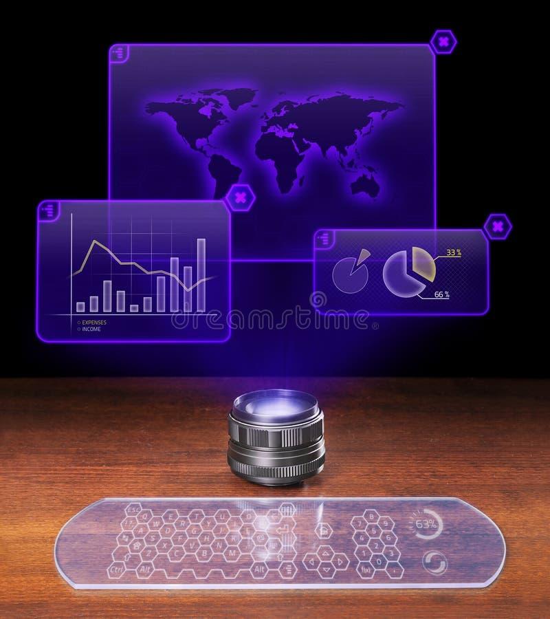 ekonomiskt futuristic för analys royaltyfri bild