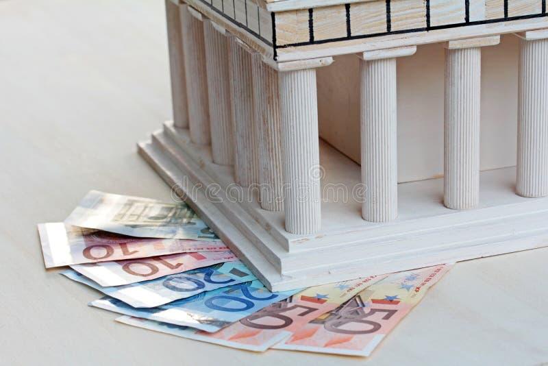 Ekonomiskt stöd för Grekland royaltyfri bild