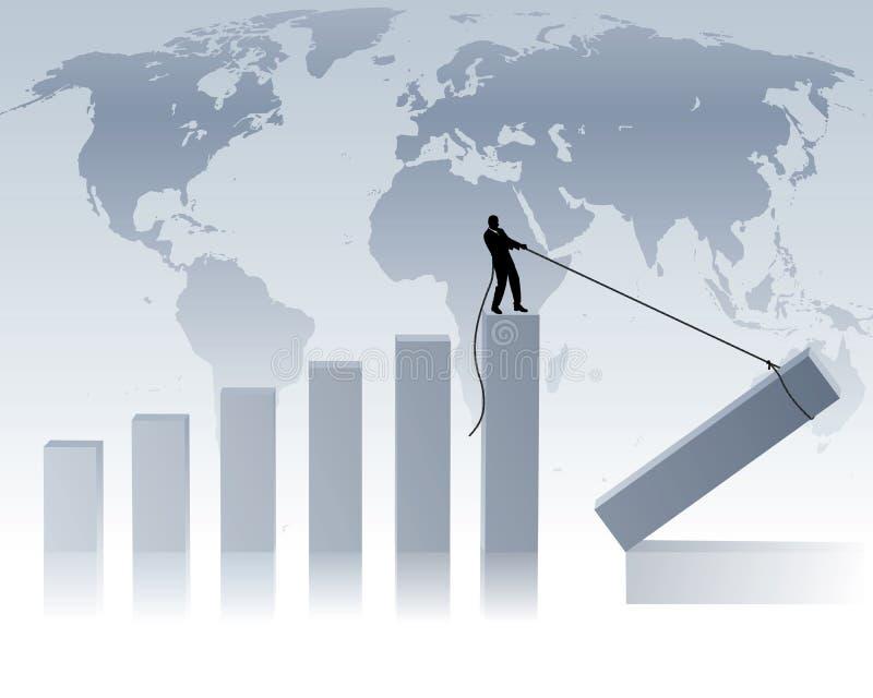ekonomivärld royaltyfri illustrationer