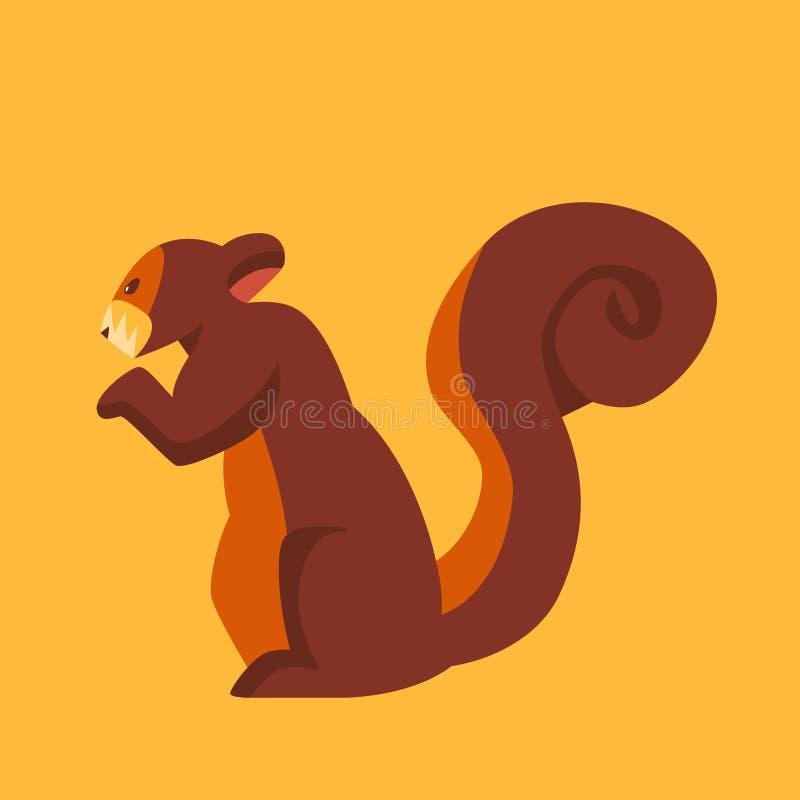 Ekorresymbol - natur och djur royaltyfri illustrationer