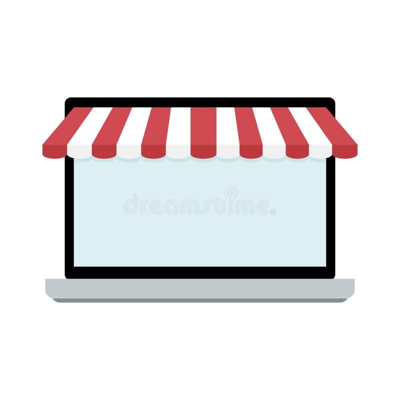 Ekran laptop z markizą ilustracji