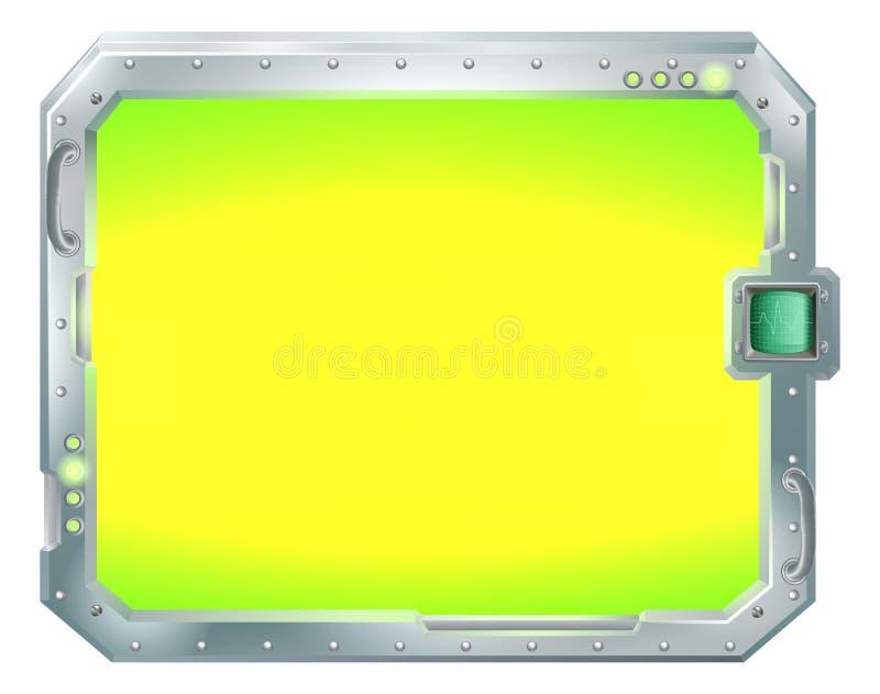 Ekran lub znak granicy futurystyczna rama ilustracji