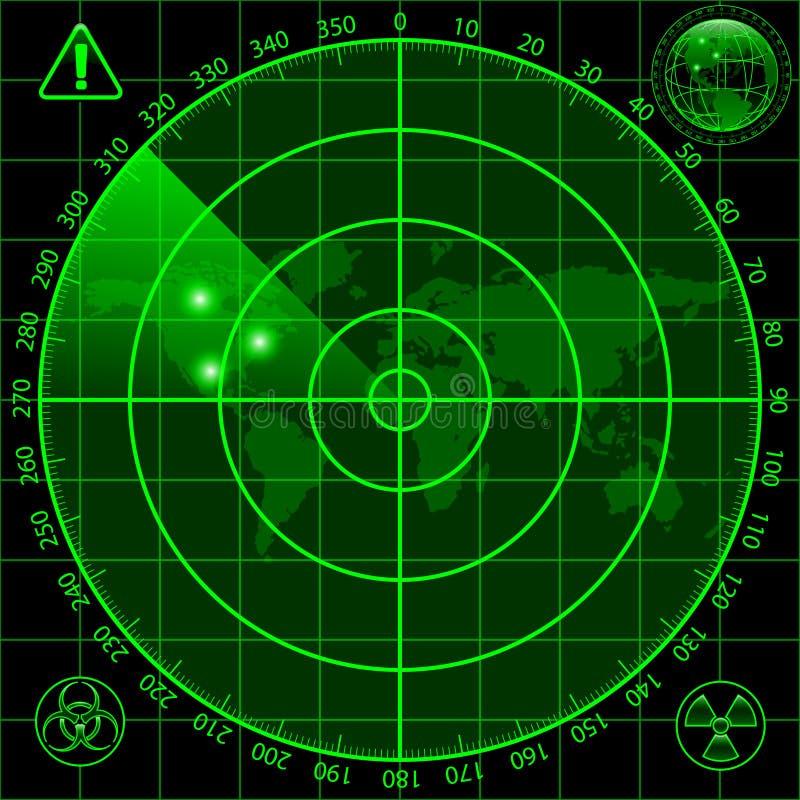 Ekran radaru royalty ilustracja