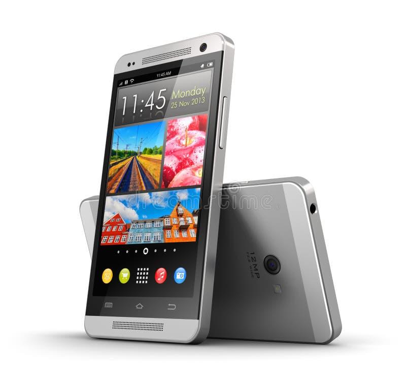 Ekran sensorowy nowożytni smartphones ilustracji