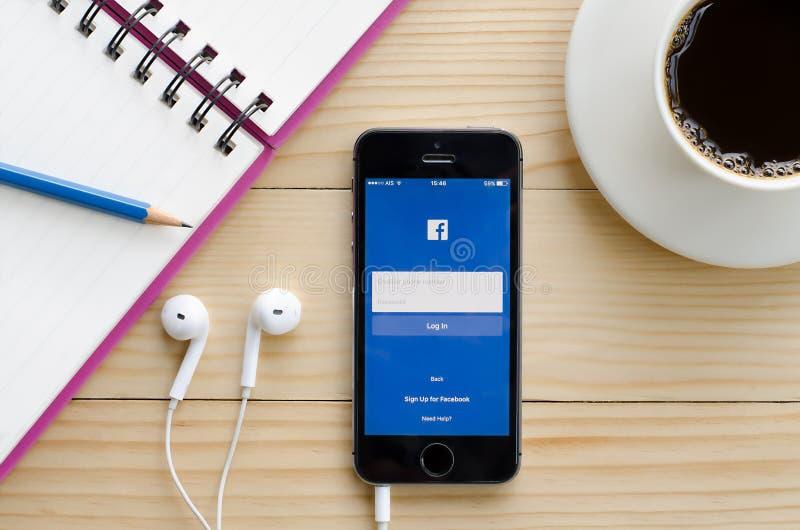 Ekran strzelający Facebook obrazy royalty free