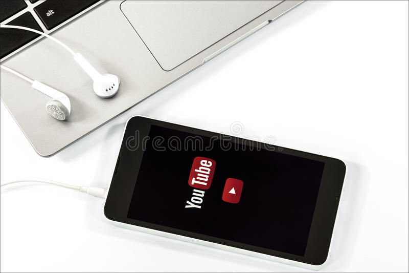 Ekran strzelający YouTube obraz royalty free