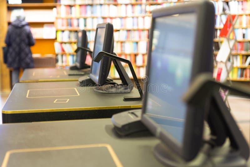 Ekran w bibliotece obrazy stock