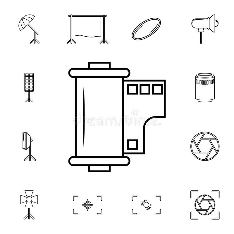 Ekranowa ikona Szczegółowy set fotografii kamery ikony Premii ilości graficznego projekta ikona Jeden inkasowe ikony dla stron in ilustracja wektor