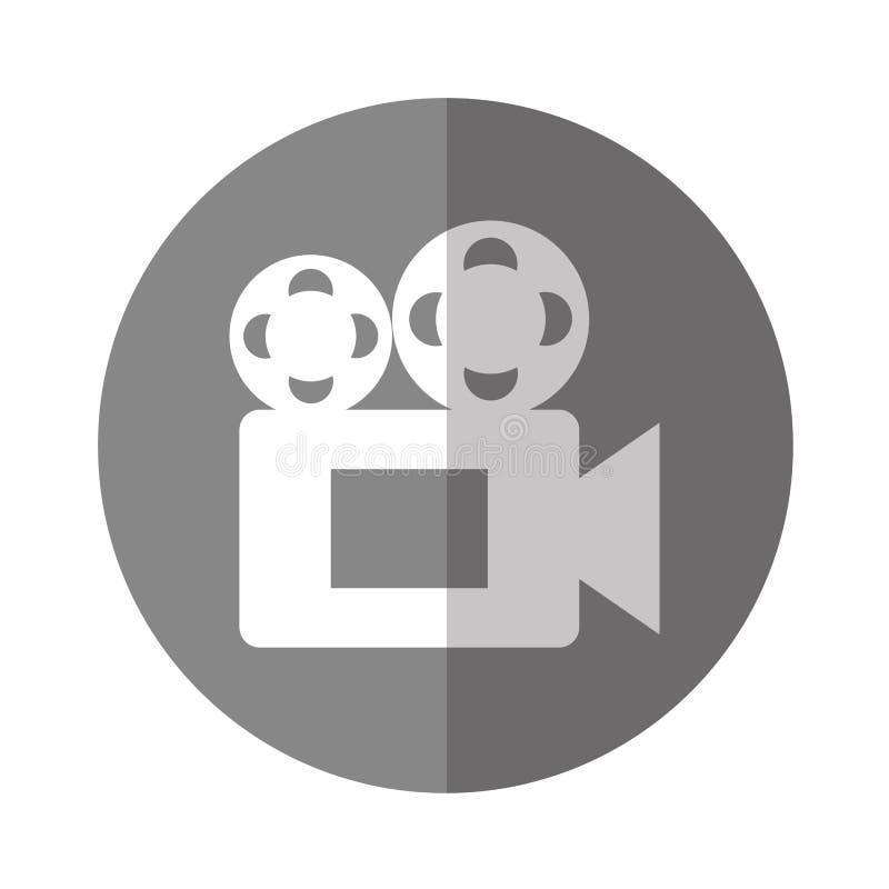 Ekranowa kamera wideo ikona royalty ilustracja