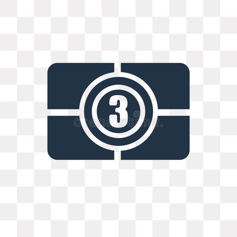 Ekranowa odpierająca wektorowa ikona odizolowywająca na przejrzystym tle, Fil ilustracja wektor