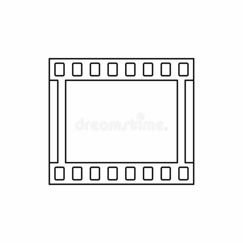Ekranowa pasek ikona w konturu stylu obrazy royalty free