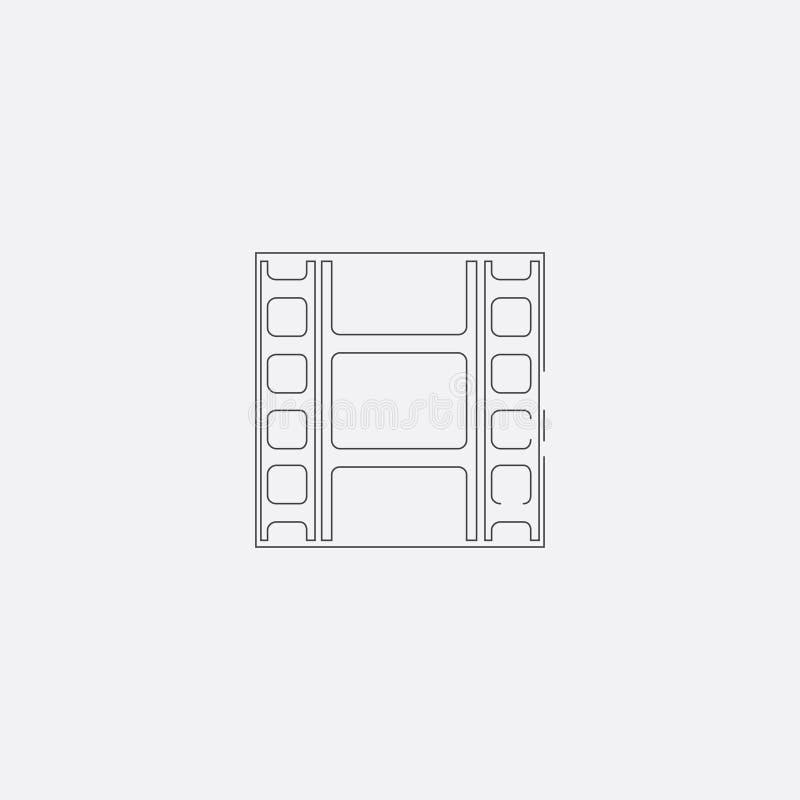 ekranowa pasek ikona, wektorowa ilustracja Mieszkanie kreskowa ikona royalty ilustracja
